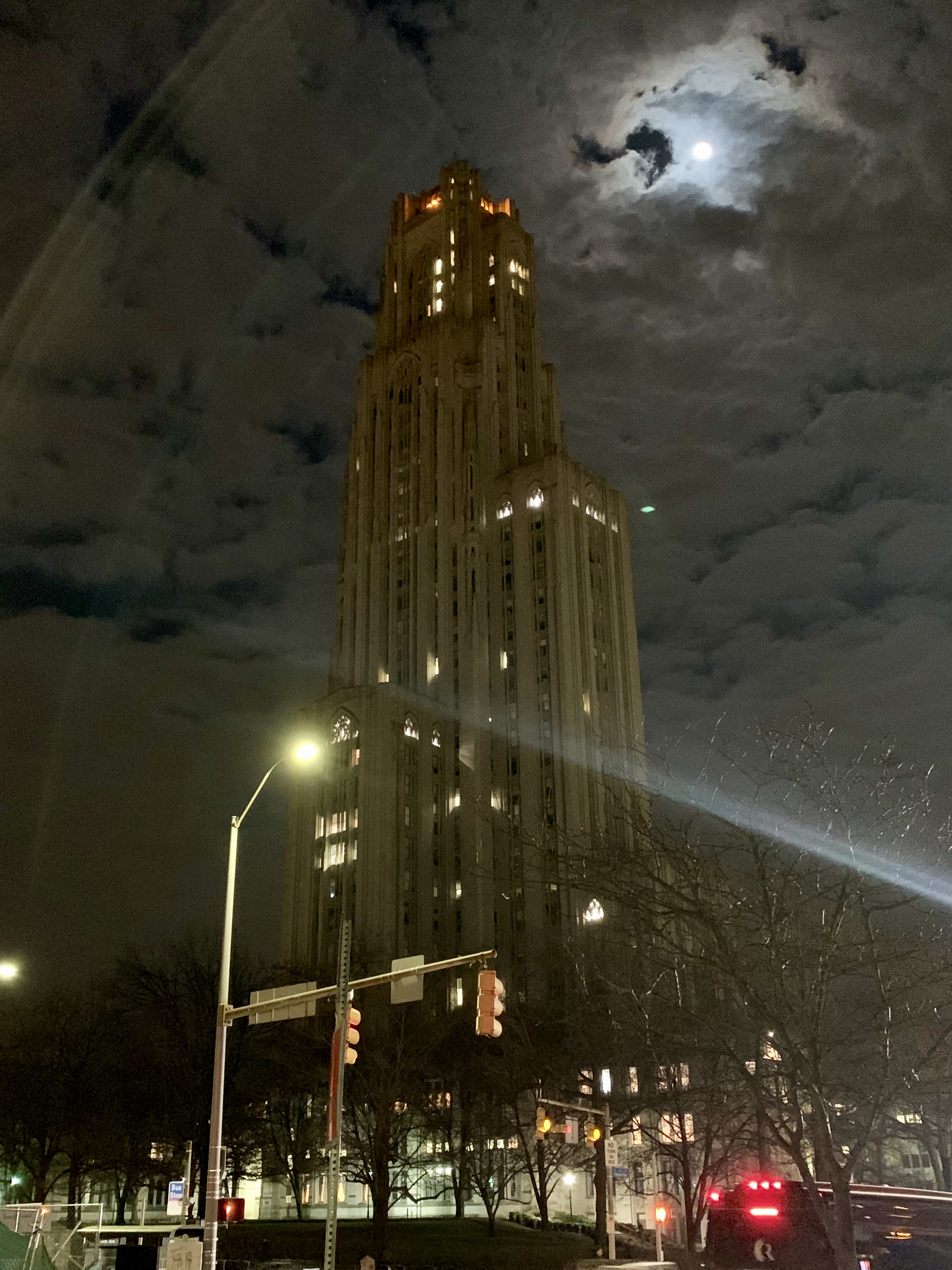 Photo of the Cathedral of Learning at the University of Pittsburgh, where Rutenbar's office is located.